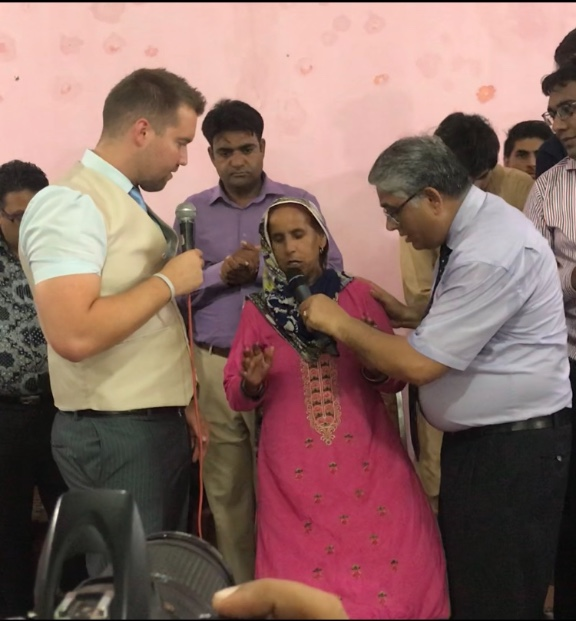 Paralyzed woman healed